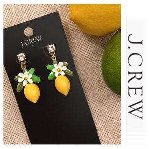 J. Crew Factory Lemon Blossom Enamel Drop Earring